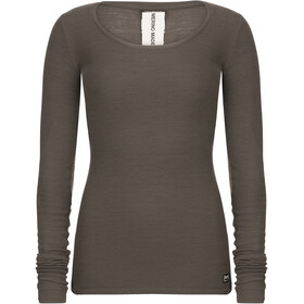 super.natural Rib Longsleeve Dames, killer khaki